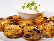 Рецепта Пържени вегетариански кюфтенца с патладжан и тиквички